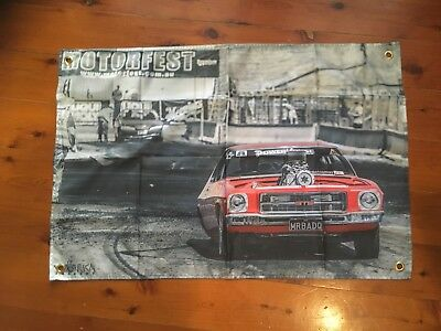 HQ MONARO HOLDEN GMH Drag car 3x2 foot mancave flags shed poolroom wall hanging