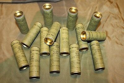 "Original WW2 U.S. Army Food Ration, ""Fuel, Ration Heating"",Tablets Tube from Lot"