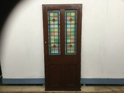 """External Pub  Stained Glass Leaded Door Size 34"""" Wide X 77"""" Approx"""