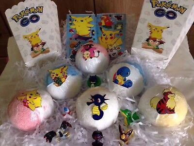 Box Of lush Scent Pokemon Bathbombs/hidden Figure Surprise Toy/kids/ Gift/
