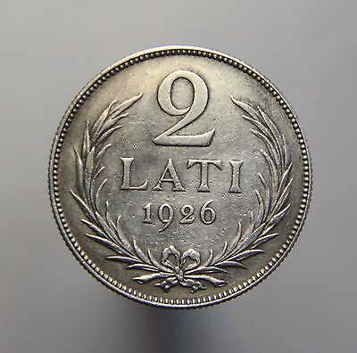 Latvia Coin SILVER OLD 2 lats 1926 XF collection
