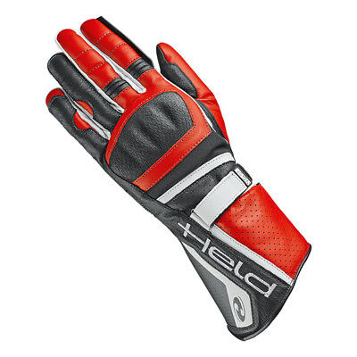 Held Akira Evo Black / Red Motorrad Motorcycle Leather Sports Gloves All Sizes