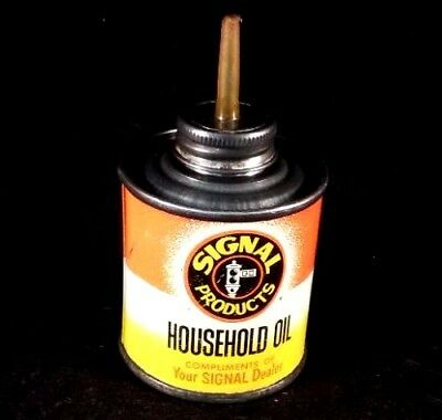 Vintage Signal Household Oil Handy Oiler 4oz. Can Advertising Gas & Oil