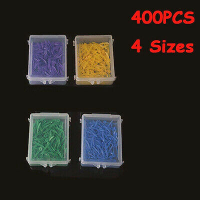 400pcs Round Dental Plastic Poly-Wedges with Holes 4 Colors 4 Sizes/Set FDA CE