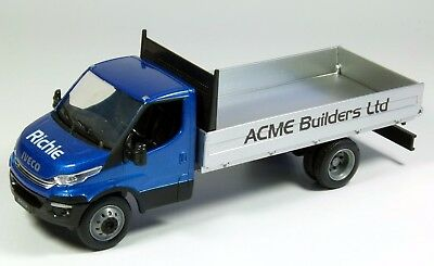 Personalised gift, die cast model Iveco daily dropside pickup truck, 18cm 1:36