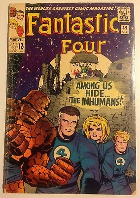 Fantastic Four #45 (1965) 1st full appearance of The Inhumans.