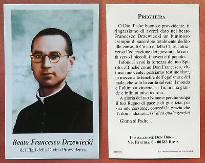 Santino Holy Card: Beato Francesco Drzewiecki