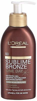 4 x L'Oréal Paris - Sublime Bronze - Gel teinté One Day -150 ml