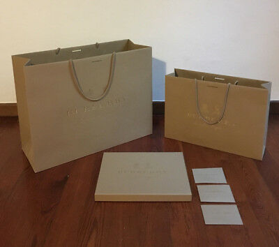 BURBERRY Packaging Man Scarf + GIFT BROCHURE - 100% ORIGINAL