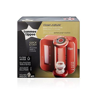 Tommee Tippee Closer To Nature Perfect Prep Machine Red Brand New
