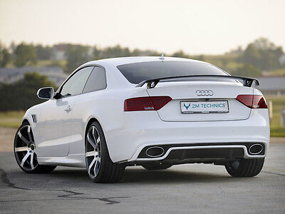 Diffuser Diffusor For Audi A5 S5 B8 Undertray Aero Body kit Rear RS5 Style Heck
