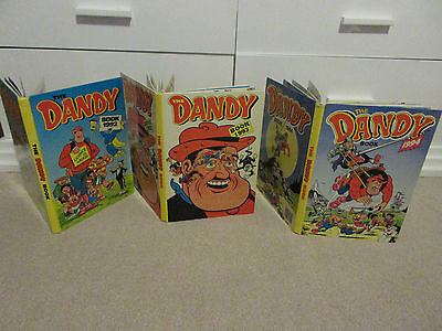 THE DANDY BOOKS X 3, 1992/1993/1994-All unclipped, VGC, NO INSCRIPTIONS