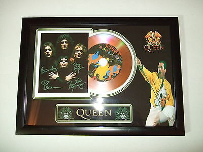 Queen    Signed  Gold Cd  Disc  337
