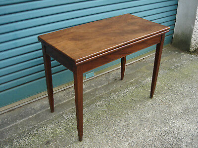 Geolll Mahogany Tea/Card /Folding/Breakfast/Table Satinwood & Rosewood lining