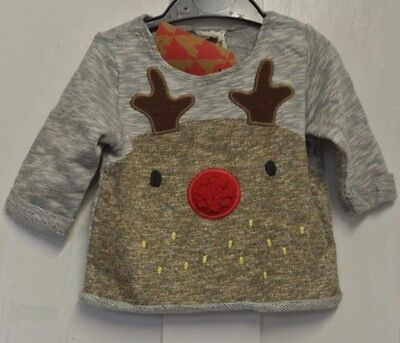 New Next Christmas Rudolf baby boys Sweatop  up to 6-9 months