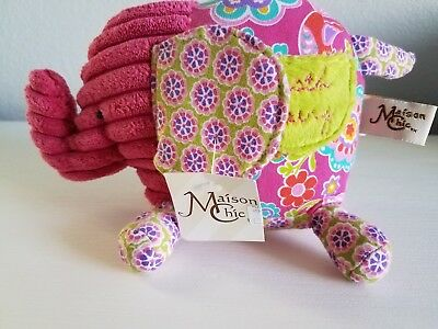 Nwt Maison Chic Ellie The Elephant Pink Tooth Fairy Pillow