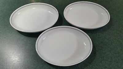 3 US Airways Oval Serving Dishes USOC200 by ABCO