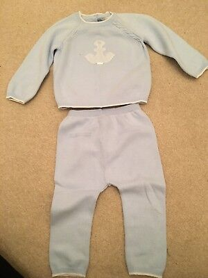 Baby Blue Boy Mayoral Wool Suit 12-18 Months