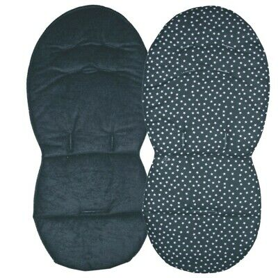 Reversible Seat Liners for Silver Cross Surf Pushchairs - Black Designs