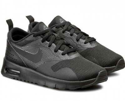Nike Air Max Tavas (PS) 844104-005 Triple Black Youth Boy's Running Casual Shoes
