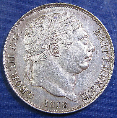 1818 6d George III Scarce silver Sixpence in a very high grade