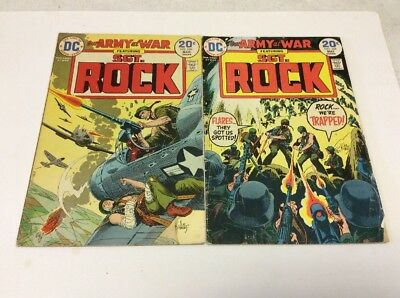Our Army at War Fet Sgt.Rock Lot DC #266,268,270,271,277