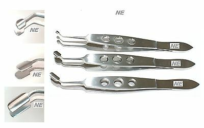 SS Meibomian A Arita Gland Expressor Compressor Forcep Small Medium Large Paddle