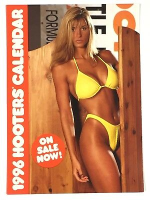 Vintage 1996 HOOTERS Calendar Advertisement Card