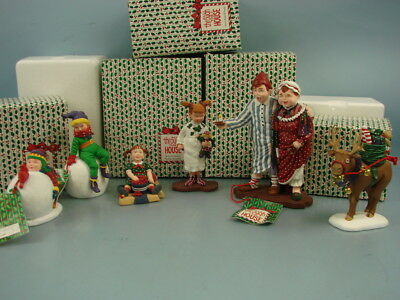 VTG Lot of 5 Department 56 All Through The House Whistle Mama Papa Caroline Suzy
