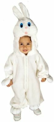 Childs Bunny Rabbit Costume White Plush Jumpsuit Easter Outfit TODDLER 2-4