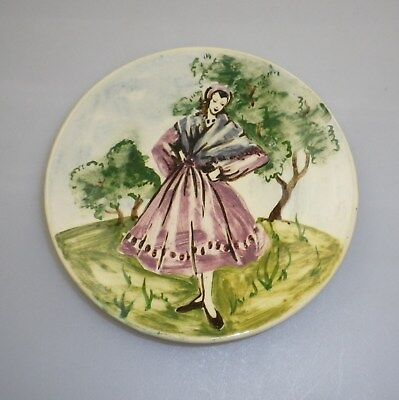 Martin  Boyd Handpainted Plate Decorated  With A Dancer