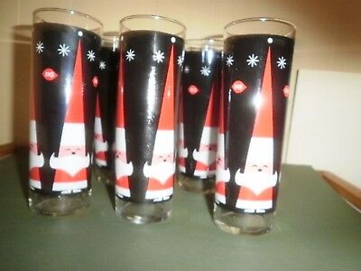 Vintage Dairy Queen Christmas Glasses Set Of 5
