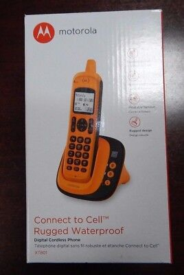 Motorola XT801 DECT 6.0 Rugged Waterproof Cordless Phone w/ Connect to Cell NEW
