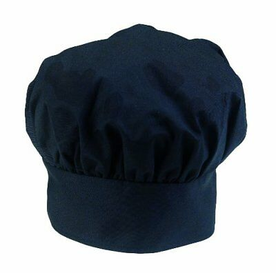 Ritz Pro Series Adjustable Black Chef's Hat, One Size Fits All, New, Free Ship