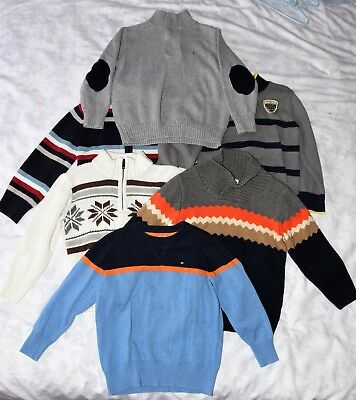 Lot of 6 Gymboree/ Tommy Hilfiger boys sweaters size 4/5