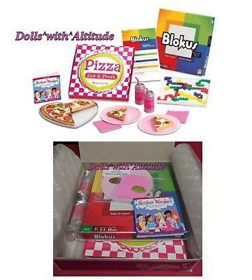 American Girl doll size Pizza Party Set Blokus Game NEW IN BOX Slumber Party