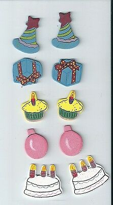 Birthday - Wooden Embellishment - 4cms - EMB422 - 10 Pieces