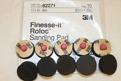 "(10) 3M Finesse-it 1-1/4"" Roloc TR Medium Foam Sanding PSA Disc Pad 82271"