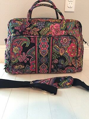 VERA BRADLEY SYMPHONY IN HUE WEEKENDER TRAVEL BAG CARRY ON NEW w/ TAGS 12479-033