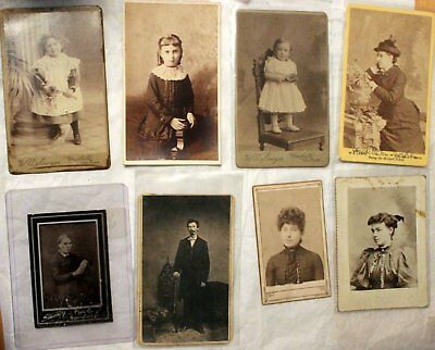 Nice lot of (8) Different CDV Photographs, All decent condition. ~See Photos