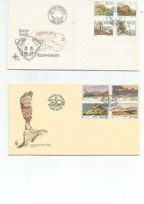 South Africa 4 F D C's .3 RSA , 1 SWA, 1982, Not Addressed, Nice Lot , See Scan