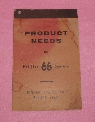 Vtg Phillips 66 Station Product Needs Stock Order Pad Paper Book Advertisement