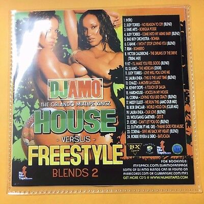 DJ Amo HOUSE vs FREESTYLE #2 Blends Mixtape Mix CD 90s Classic Club Dance Music