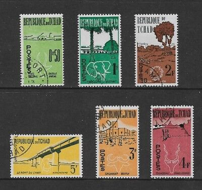 CHAD - 1961 First Anniversary of Independence, set of 6, CTO