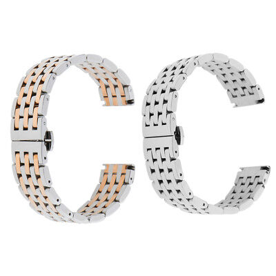 Quick Release Stainless Steel Link Bracelet Watch Bands Strap With Spring Bars