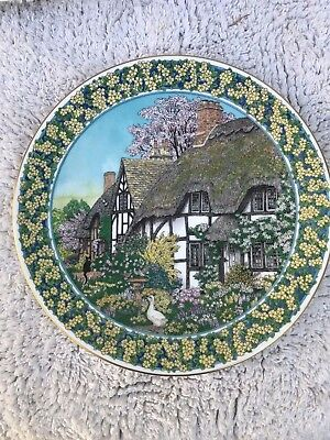 Royal Worcester 'Cottage Gardens' Plate by Sue Scullard