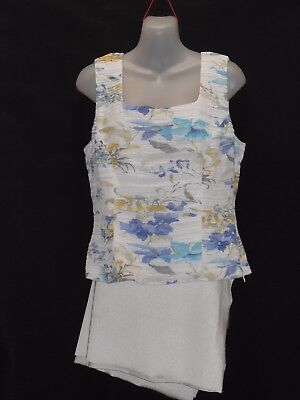 "1980's Vintage Sleeveless ""Anthea Crawford"" Floral Top."