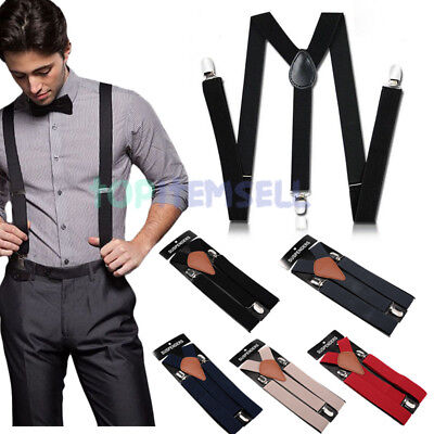 2018 Fashion Men's 1.5 Inch Wide Elastic Hook End Suspenders (Regular & Tall)