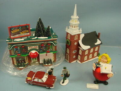 VTG Lot Department 56 Snow Village Hershey's Chocolate Shop Service with a Smile