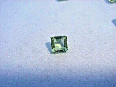 Peridot Princess Cut 2.5mm x 2.5mm Gemstone 0.10 Carats Natural Gem